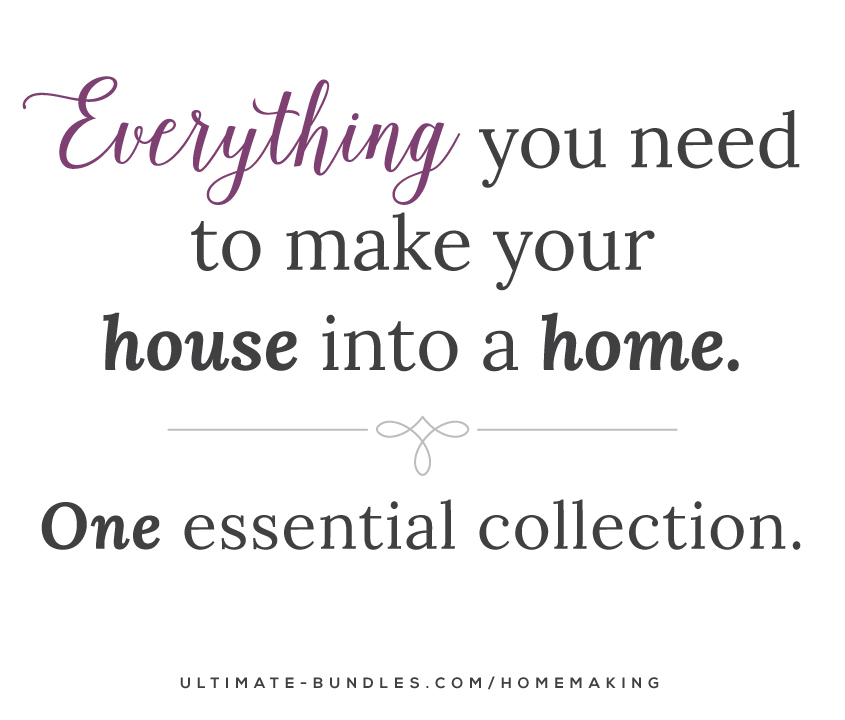 It's back! The Ultimate Homemaking Bundle